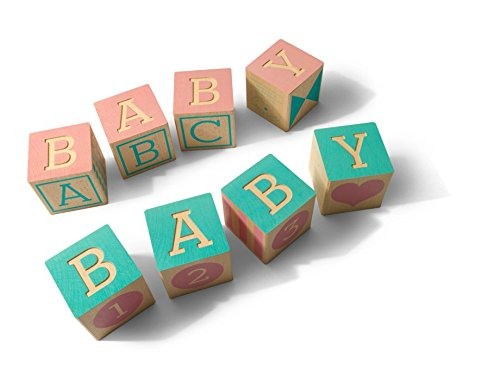Uncle Goose Decorative Baby Blocks - Baby Shower Gift Set - 4 Blocks