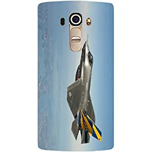 Casotec Jet Fighter Design Hard Back Case Cover for LG G4