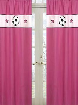 Girls Soccer Window Treatment Panels by Sweet Jojo Designs