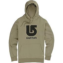 BURTON Men\'s Logo Vertical Pullover Hoodie, Medium, Light Olive