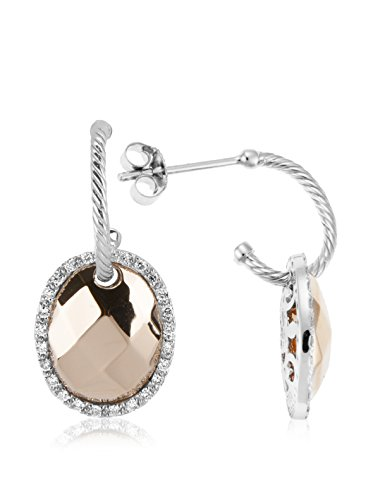 Charriol Women's Facet 18K White & Rose Gold Drop Earrings with Diamonds