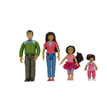 Fisher Price Loving Family Dollhouse Hispanic Family - Dad, Mom, Sister, Toddler