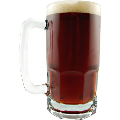German Style Extra Large Glass Beer Mug - 34 oz (1) (Beer Mug Glass compare prices)