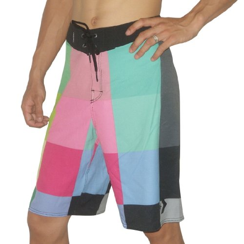 Mens Converse BERMUDA Skate & Surf Boardshorts Board Shorts - Multicolor(Size: M/34)