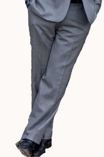 Monza Suit Trousers from Skopes Signature Collection 32inch Waist 31inch, Light Grey Pinhead