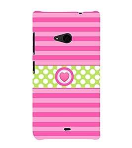 Heart Love Girly 3D Hard Polycarbonate Designer Back Case Cover for Nokia Lumia 535 :: Microsoft Lumia 535