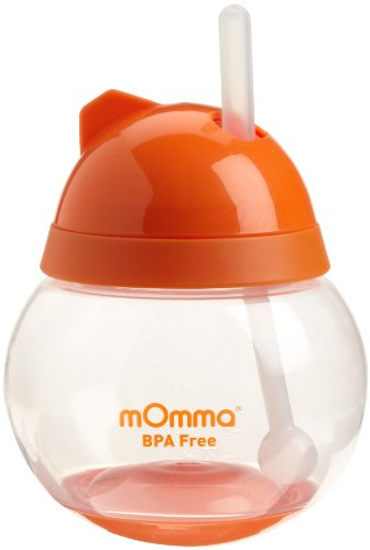 Lansinoh mOmma Straw Cup, Orange (Discontinued by Manufacturer) - 1