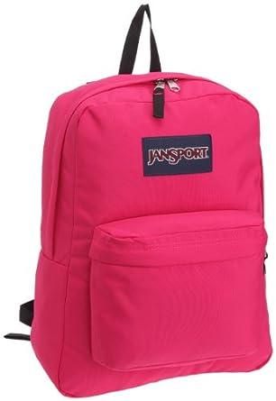 jansport superbreak backpack school bag fluorescent pink sport. Black Bedroom Furniture Sets. Home Design Ideas