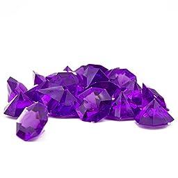 Adorox 25 Carat Flat Acrylic Diamonds Party Decorations Table Scatter (Purple (1lb Bag))