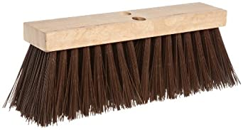 Magnolia Brush 1616 16-Inch Brown Polypropyelen Plastic Street Broom, (Carton of 6)