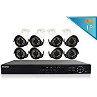 LaView 2TB 8-Channel Full HD IP Indoor/Outdoor Video Security Surveillance System