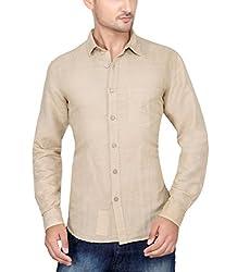 Ecohawk Cream Casual Slim Fit Shirt 10090-F
