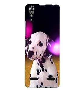 Fuson 3D Printed Dog Designer back case cover for Lenovo A6000 Plus - D4491