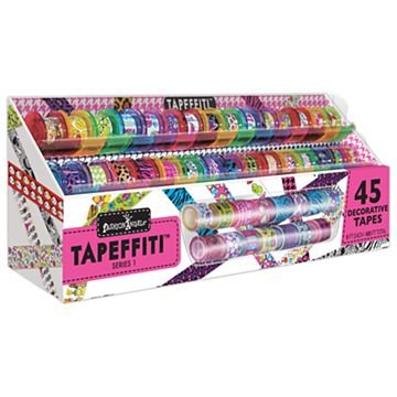 Fashion Angels Tapeffiti Deluxe 45 Decorative Tapes With Caddy Series 1