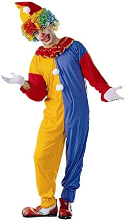 Adult Circus Clown Halloween Costume (Size: Standard 42-46)