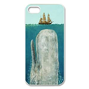Funny The Moby Dick Whale Inspired Nice Style Hard Decorative and Protective Personalized Case Cover for iPhone 4/4s