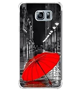 Red Umbrella 2D Hard Polycarbonate Designer Back Case Cover for Samsung Galaxy Note5 :: Samsung Galaxy Note5 N920G :: Samsung Galaxy Note5 N920T N920A N920I