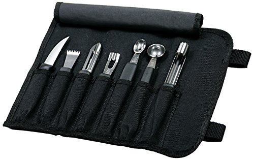 Mercer Culinary Innovations For Chefs 8-Piece Garnishing Kit, Black
