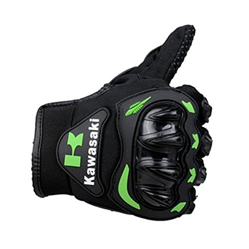 Kawasaki Motorcycle gloves retro Moto racing gloves Motocross full finger gloves Cycling glove M L XL XXL (M: 8-8.5 cm) 2