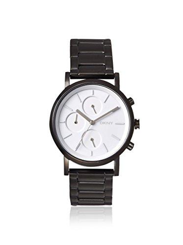 DKNY SoHo White Dial Matte Black Stainless Steel Bracelet Ladies Watch NY2149
