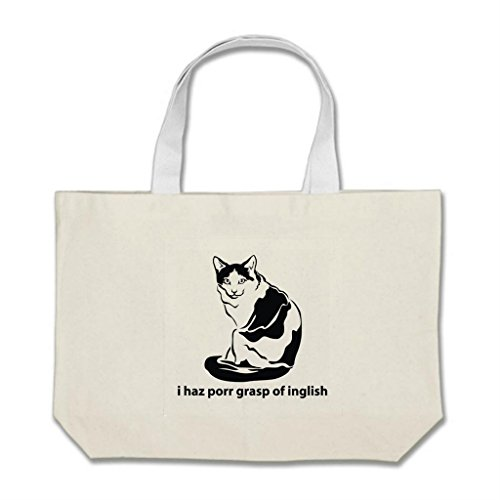 am-i-beauty-i-haz-porr-grasp-of-inglish-inexpensive-totes-fabric-jumbo-tote-bags