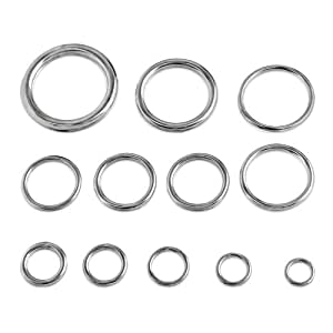 Round Welded Type 316 Stainless Steel Ring - 1/4-inch x 1-inch