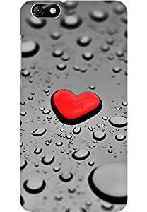 AMEZ designer printed 3d premium high quality back case cover for Huawei Honor 4X (red heart droplets)
