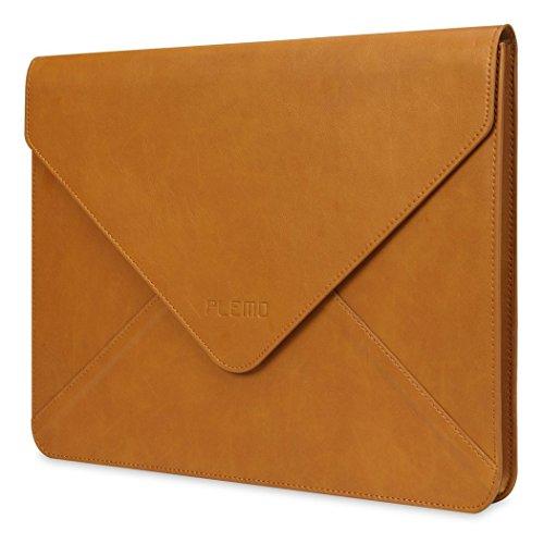 MacBook AirケースPLEMO 封筒エンベロープ PUレザー 11-11.6インチ ブリーフケース (ブラウン)