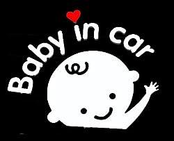 セーフティサイン 赤ちゃんが乗っています baby in car 車 シール ステッカー  男の子