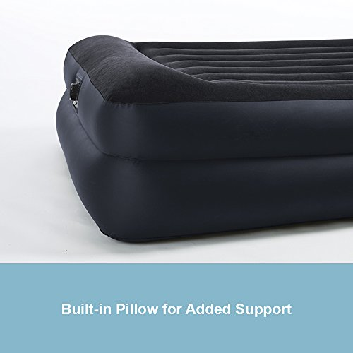 Intex Pillow Rest Raised Airbed with Built-in Pillow and Electric Pump