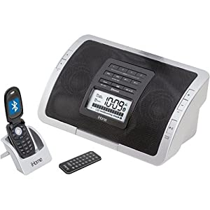 iHome iHC5 Wireless Bluetooth Clock Radio for Cell Phones, iPods, and MP3 Players (Silver)