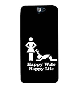 EPICCASE Happy wife Mobile Back Case Cover For HTC One A9 (Designer Case)