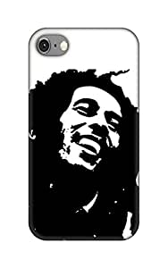 Bob Marley Black and white designer case and cover printed mobile back cover for.. Apple iPhone 4 / 4S