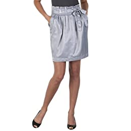 Go International® Satin Paperbag-Waist Skirt - City Gray : Target from target.com