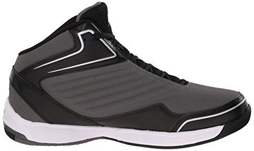 Fila Men's Import-M Basketball Shoe, Pewter/Black/Metallic Silver, 10.5 M US