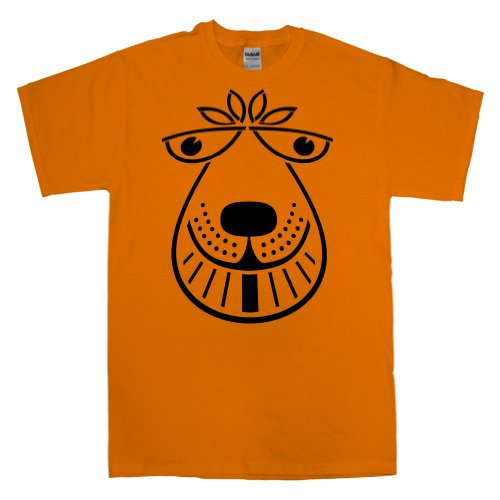 Mens Space Hopper T Shirt - Orange - Medium