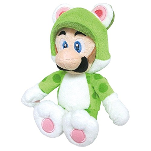 "Little Buddy USA Super Mario 3D World 14"" Large Neko Cat Luigi Plush"