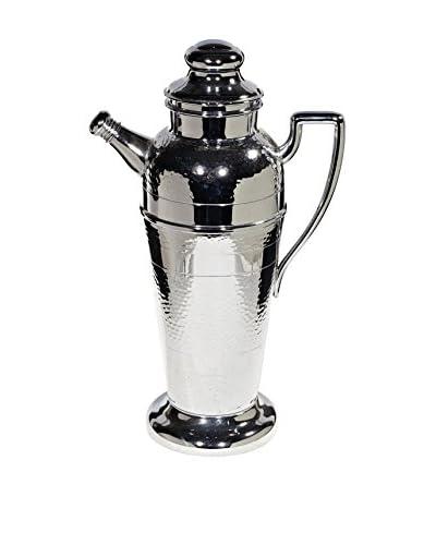 2 B Modern Art Deco Chrome Cocktail Shaker, Silver