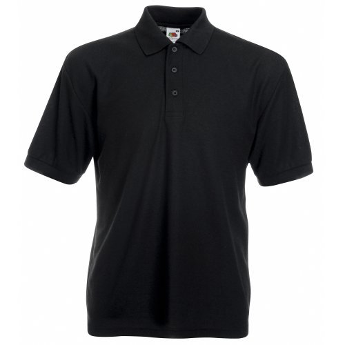 fruit-of-the-loom-65-35-plain-pique-polo-shirts-5-colours-size-s-to-4xl-m-black