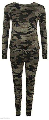 Unogal Clothing-vestiti da donna, motivo: mimetico, Set con giacca e pantalone di tuta Multicolore Ensemble Camouflage 42