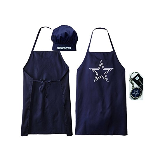 Dallas Cowboys Apron and Chef's Hat and Dallas Cowboys Bottle Cap Opener (Cowboys Chef Hat And Apron Set compare prices)