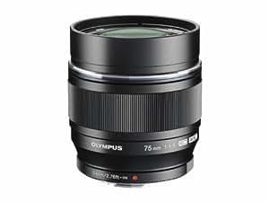 Olympus M.Zuiko Digital ED 75 mm 1:1:8 Objektiv für Micro Four Thirds Objektivbajonett (150 mm KB) schwarz