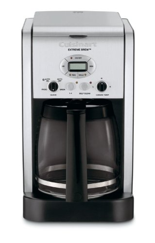 Cuisinart Extreme Brew 12 Cup Automatic Coffee Maker, with Brew Strength Control and Adjustable Heater Plate with High, Medium and Low Settings, and Fully Automatic with 24-Hour Programmability, Auto Shutoff, and 1 to 4 Cup Setting, with Pause n' Brew and 60 Second Reset, Gold Tone/Charcoal Filter Included (Cuisinart Extreme Coffee Maker compare prices)