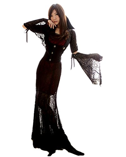 Sexy Halloween Party Queen Vampire Costume Ghost Bride Uniform Long Dress