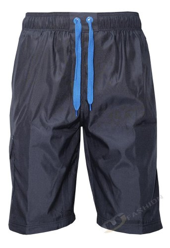 Mens Elasticated Drawcord Tracksuit Polyester Sports Swim Shorts With Zip Pockets Sizes S M L XL Off White Navy Black