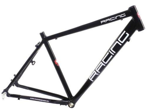 28″ Alu Trekking Fitness Herren Rahmen Fahrradrahmen schwarz RH50 Disc Racing