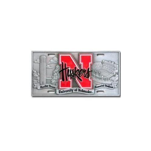 Ncaa 3d logo license plate logo nebraska cornhuskers