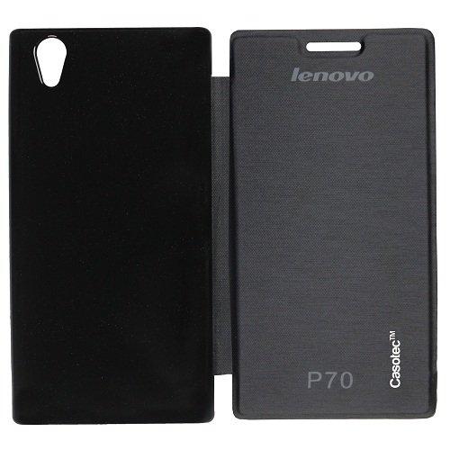 Casotec Premium Flip Case Cover for Lenovo P70 - Black