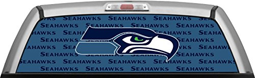 SEAHAWKS - STAMPED TEAL WINDOW WRAP : Truck SUV Car Rear Decal Sticker Canvas Tint (Seahawk Window Tint compare prices)