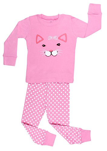 """Elowel """"Cat Face"""" 2 Piece Pajama Set 100% Cotton - 12-18 Months front-1037577"""